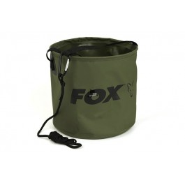 CCC049 Collapsable Large water bucket inc rope/clip FOX