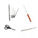 Igły, wiertła, nożyczki, narzędzia